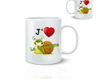 Mug I love the Burgundy - ceramic mug 325 ml