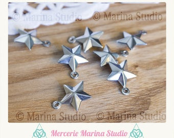 5 charm stainless steel star 15mm
