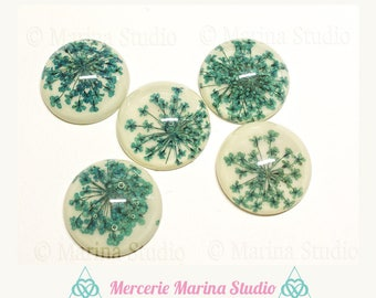 Resin flower cabochon resin 25mm