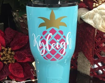 Pineapple personalized decal