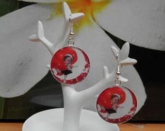 Christmas girl (earrings metal silver)