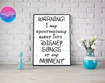 Disney Home Décor Prints by North C Designs