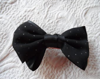 black and shiny hair brooch large size for a beautiful party
