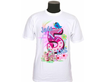 t-shirt kids birthday personalized with number and name choice ref year 03