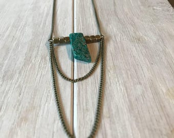 Jasper Tier Drop Necklace