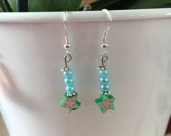 Pretty Stud Earrings on the theme of the fruit loop Silver 925/1000
