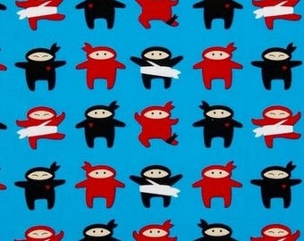 Patchwork blue ninja Kaufman fabric