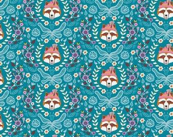 Patchwork blue Fox Riley Blake fabric