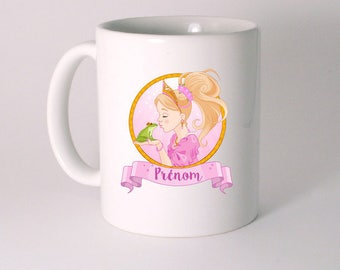 "Personalized ""Princess and frog"" ceramic MUG"