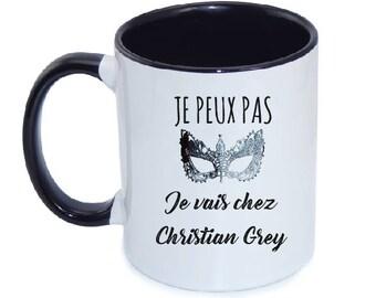 """CERAMIC MUG """"I can't I'm going to Christian Grey"""""""