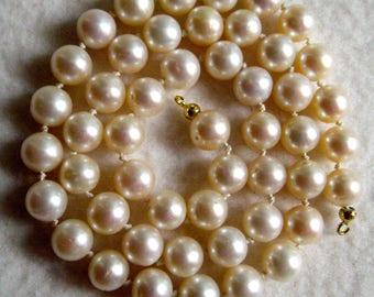 Beautiful Japanese Akoya pearls with certificate