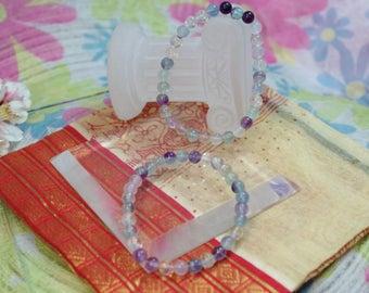 Natural Fluorite gemstone bracelet