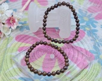 Natural Bronzite gemstone bracelet