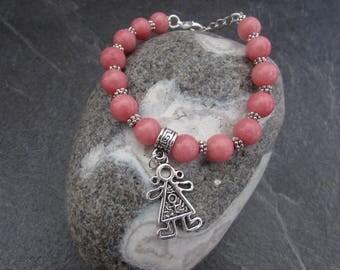 "Bracelet natural stone ""it's a girl!"""