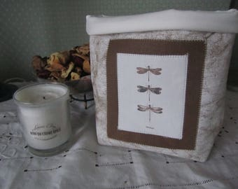 """Tidy in the """"Dragonfly"""" thick canvas and lined with ivory fabric"""