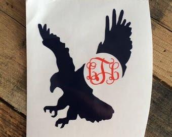 War eagle. War eagle decal. Monogrammed war eagle. Auburn decal. Auburn tiger.