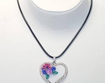 Swarovski hearty necklace