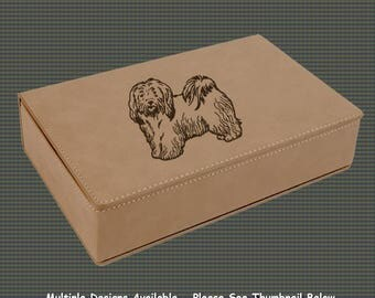 Leatherette Flask Gift Set - Dog Designs 8