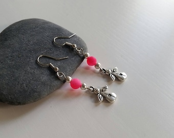 Earrings with cracked Agate (6 mm beads)