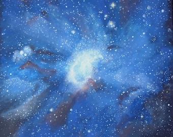 Painting theme universe ' Magellan 50 x 50 cm
