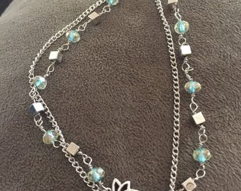 Handmade Turqouise and Silver Anklet