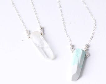 Light series Eco resin crystal necklace