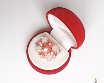 """Bouquet ring pearls shabby chic romantic """"Camellia"""" shades of pink pearls"""