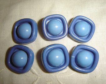6 buttons blue vintage / / 20 mm