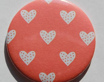 Hearts pattern Pocket mirrors