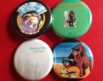 FLEETWOOD MAC set of 4 buttons 1.25""