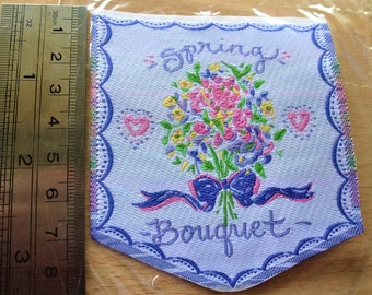 applique Spring Bouquet patch badge for textile customsation 8011 for sewing craft