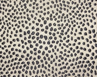 Ivory and Black Jacquard Pillow Cover
