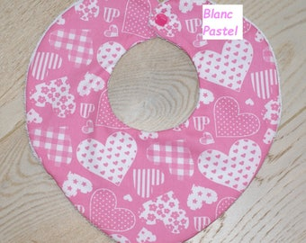 heart shape pink bib