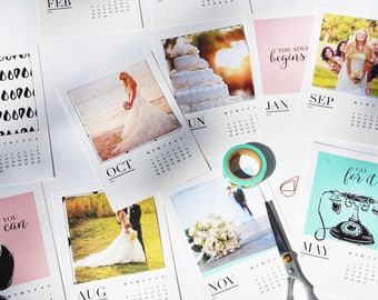 Hand-Drawn 2018 Desk Calendar · Wall Calendar · with or without stand