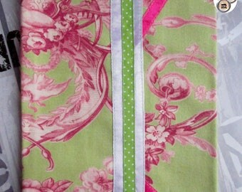 """Notebook/diary cover """"toile de jouy"""" ready to customize"""