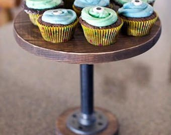 Wood rustic cupcake stand display  sold stained you choose your color handcrafted in my own woodshop