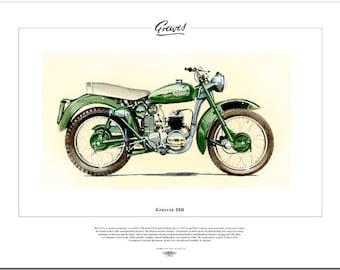 GREEVES 20D - Motor Cycle Fine Art Print - 200cc 2-stroke single - Villiers 8E