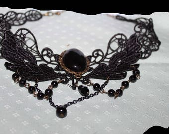 LACE OBSIDIAN NECKLACE
