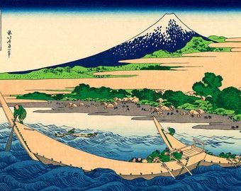 Shore of the Bay of Tago, Ejiri in Tokaido - Shore of Tago Bay, Ejiri at Tokaido