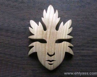 Sculpture mask sheets / 2 in fretwork tree spirit