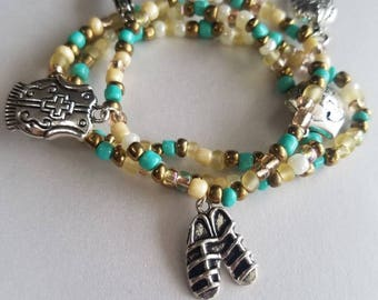 Turquoise Armor of God Stacking Bracelets