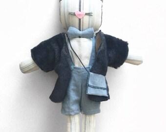 linen cat doll