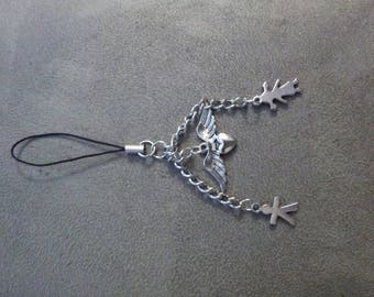 "Cell phone or bag ""under the wings of an Angel"" charm"