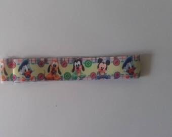 Ribbon grosgrain Mickey, donald, pluto baby