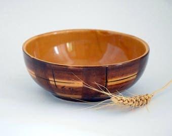Ceramic bowl, pottery bowl, brown bowl, serving bowl, soup bowl, salad bowl, snak bowl