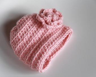 Sweet Rose Newborn Hat