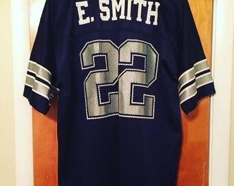 Emmitt Smith Vintage Dallas Cowboys Jersey. Size large