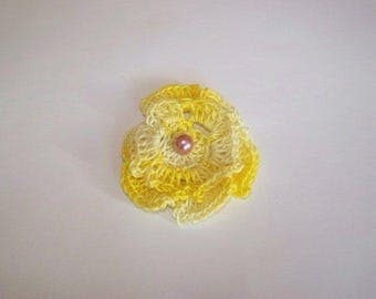 for decoration of clothing, bag, scrapbooking, crochet pink.