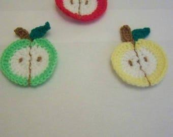 Apple crochet for scrapbooking
