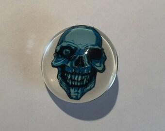 Snap 1.8 cm Blue skull